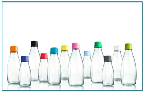 Wasserflaschen aus Glas