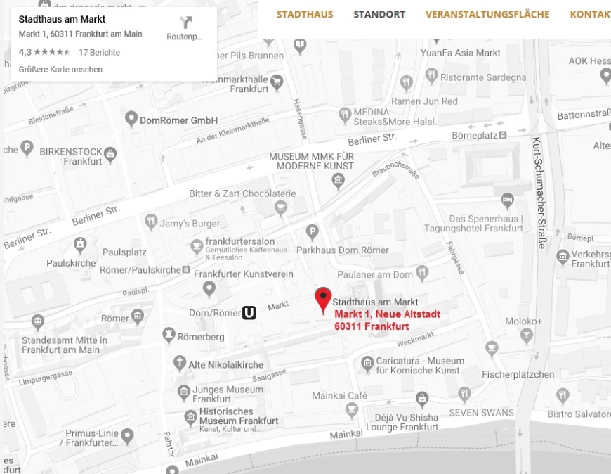 stadthaus karte